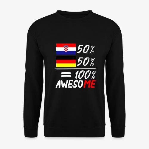 Männer Pullover 50% Kroatisch 50% Deutsch - Männer Pullover