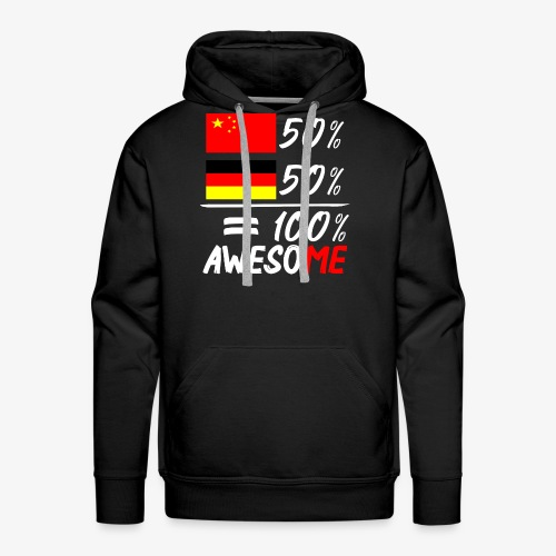 Männer Premium Hoodie 50% Chinesisch 50% Deutsch - Männer Premium Hoodie