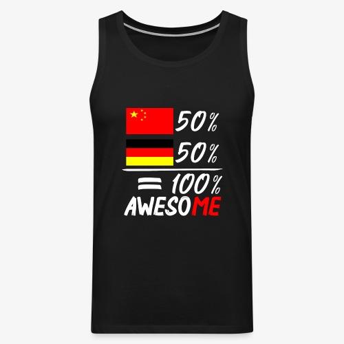Männer Premium Tank Top 50% Chinesisch 50% Deutsch - Männer Premium Tank Top