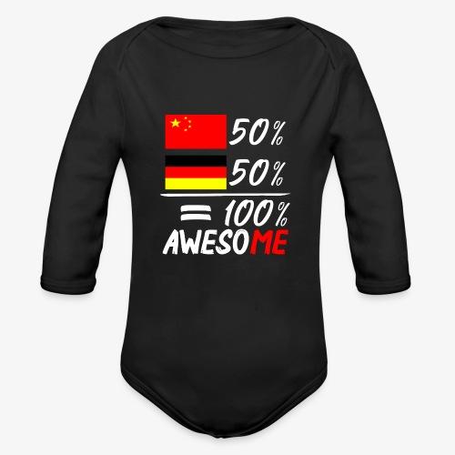 Baby Bio-Langarm-Body 50% Chinesisch 50% Deutsch - Baby Bio-Langarm-Body