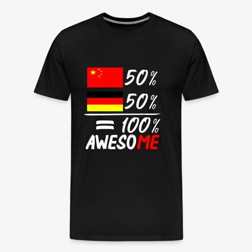 Männer Premium T-Shirt 50% Chinesisch 50% Deutsch - Männer Premium T-Shirt