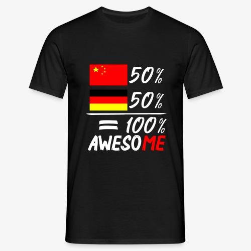 Männer T-Shirt 50% Chinesisch 50% Deutsch - Männer T-Shirt