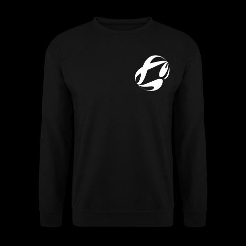 startig white on black + OS badge - Männer Pullover