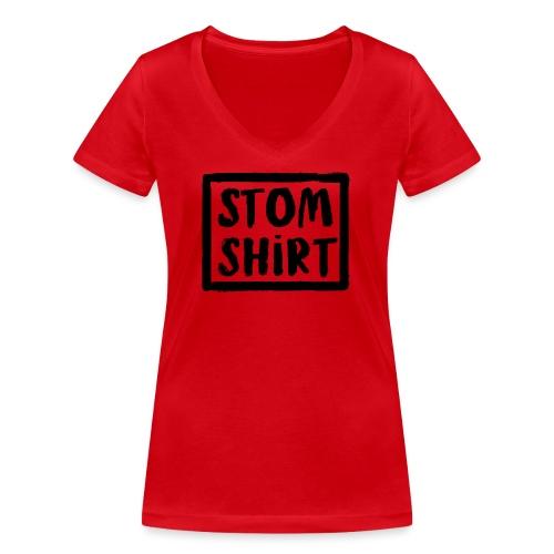 Stom shirt vrouwen v-hals bio - Vrouwen bio T-shirt met V-hals van Stanley & Stella