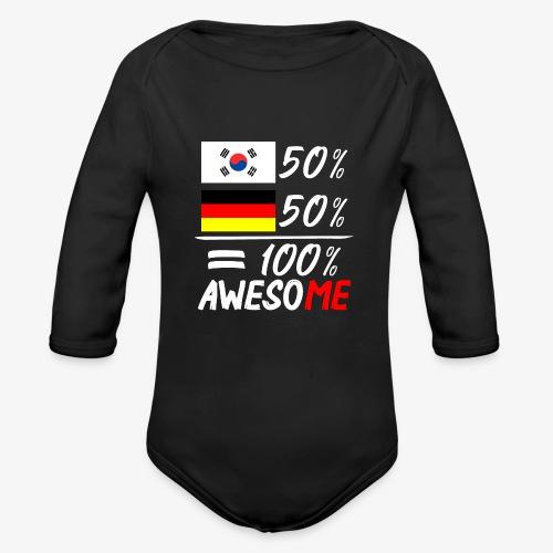 Baby Bio-Langarm-Body 50% Koreanisch 50% Deutsch - Baby Bio-Langarm-Body