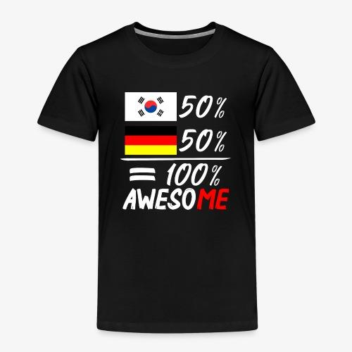 Kinder Premium T-Shirt 50% Koreanisch 50% Deutsch - Kinder Premium T-Shirt