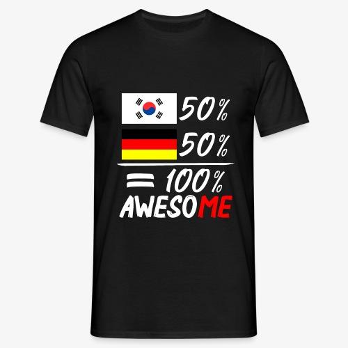 Männer T-Shirt 50% Koreanisch 50% Deutsch - Männer T-Shirt
