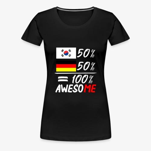 Frauen Premium T-Shirt 50% Koreanisch 50% Deutsch - Frauen Premium T-Shirt