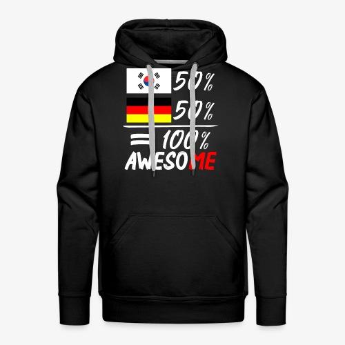 Männer Premium Hoodie 50% Koreanisch 50% Deutsch - Männer Premium Hoodie