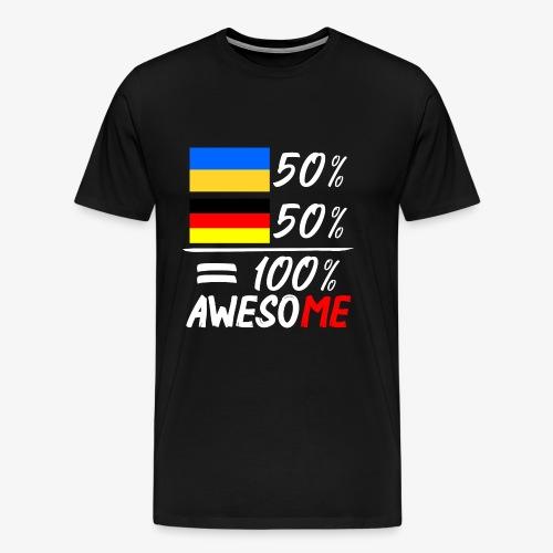Männer Premium T-Shirt 50% Ukrainisch 50% Deutsch - Männer Premium T-Shirt