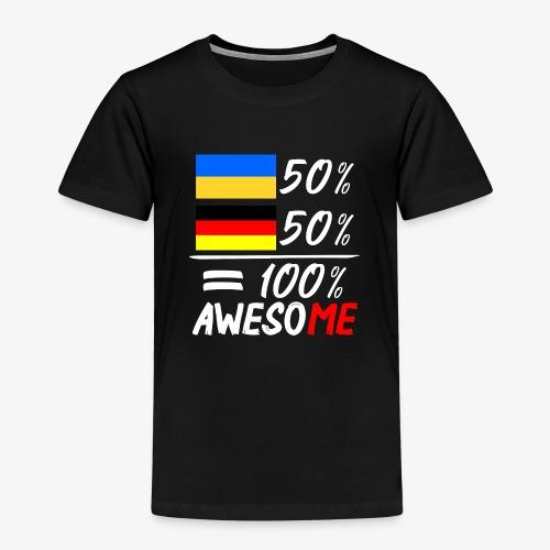 Kinder Premium T-Shirt 50% Ukrainisch 50% Deutsch - Kinder Premium T-Shirt