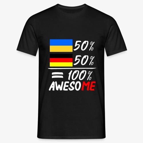 Männer T-Shirt 50% Ukrainisch 50% Deutsch - Männer T-Shirt