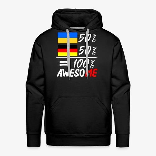 Männer Premium Hoodie 50% Ukrainisch 50% Deutsch - Männer Premium Hoodie
