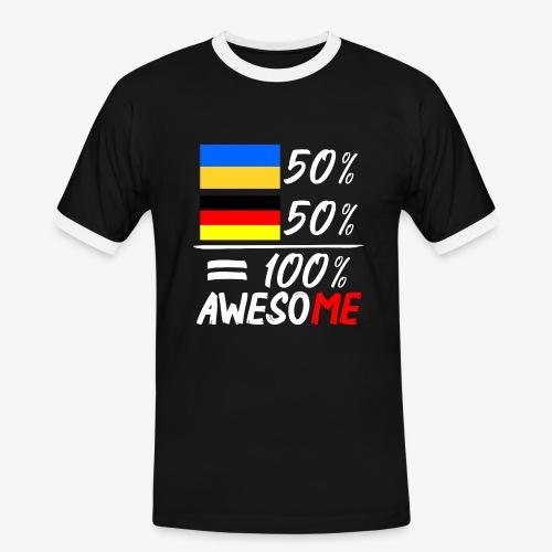 Männer Kontrast T-Shirt 50% Ukrainisch 50% Deutsch - Männer Kontrast-T-Shirt