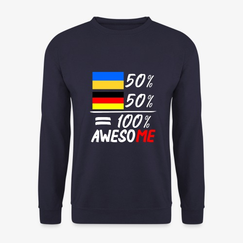 Männer Pullover 50% Ukrainisch 50% Deutsch - Männer Pullover