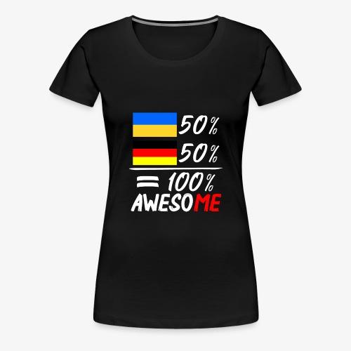 Frauen Premium T-Shirt 50% Ukrainisch 50% Deutsch - Frauen Premium T-Shirt