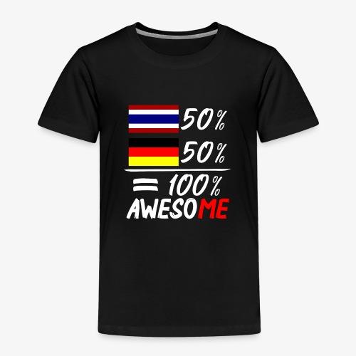 Kinder Premium T-Shirt 50% Thai 50% Deutsch - Kinder Premium T-Shirt