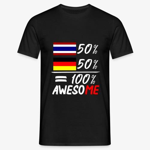 Männer T-Shirt 50% Thai 50% Deutsch - Männer T-Shirt