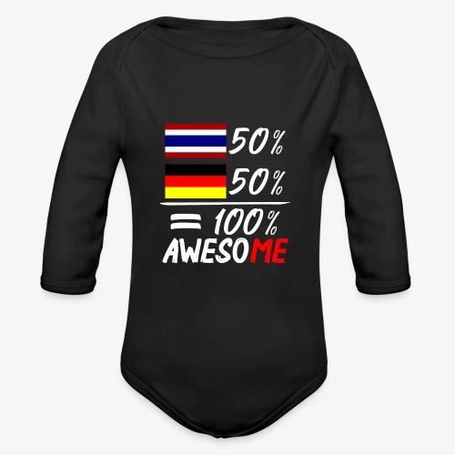 Baby Bio-Langarm-Body 50% Thai 50% Deutsch - Baby Bio-Langarm-Body