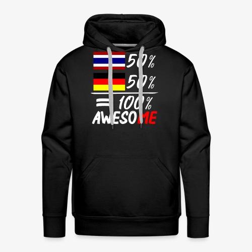 Männer Premium Hoodie 50% Thai 50% Deutsch - Männer Premium Hoodie