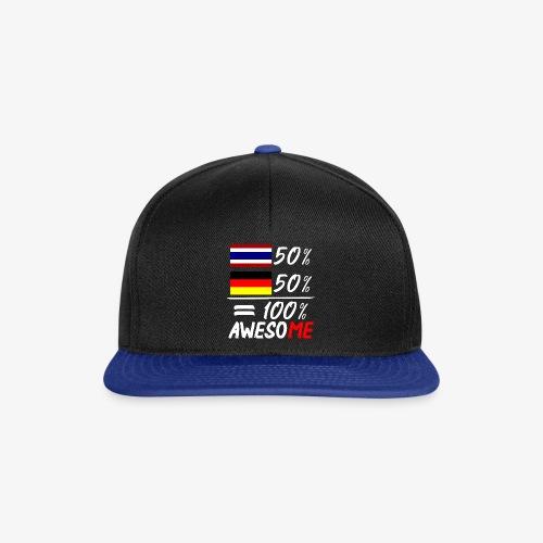 Snapback Cap 50% Thai 50% Deutsch - Snapback Cap