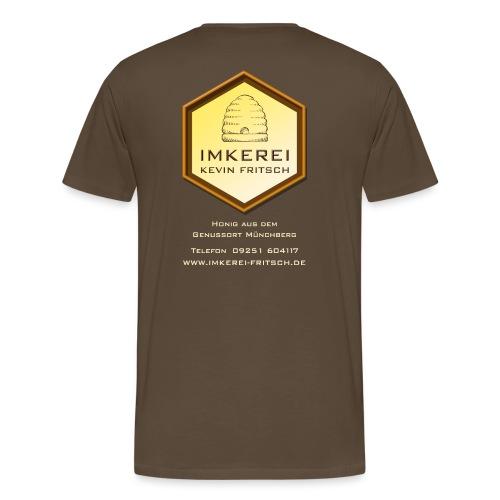 Imkerei Kevin Fritsch, Shirt mit Logo und Adresse auf der Rückseite - Männer Premium T-Shirt