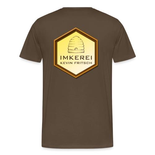 Imkerei Kevin Fritsch, Logo hinten - Männer Premium T-Shirt