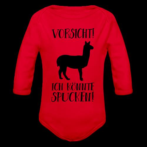 Vorsicht Spuckendes Lama Baby Geschenk Body - Baby Bio-Langarm-Body