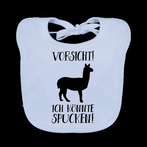 Vorsicht Spuckendes Lama Baby Geschenk Lätzchen - Baby Bio-Lätzchen