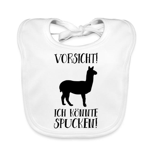 Vorsicht Spuckendes Lama Baby Geschenk Lätzchen