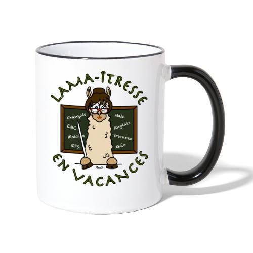Mug Lama-îtresse cadeau instit, maîtresse Lama - Mug contrasté