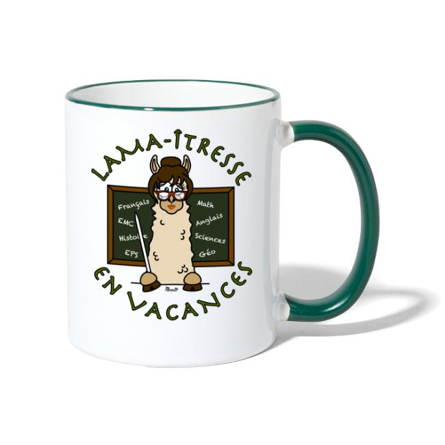"""Mug """"Lama-îtresse"""" cadeau instit, maîtresse Lama"""