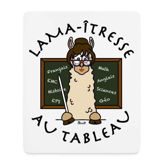 """Tapis de souris """"Lama-îtresse"""" cadeau instit, maîtresse, Lama"""