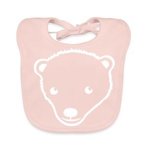 Bären-Motiv auf Babylätzchen - Baby Bio-Lätzchen