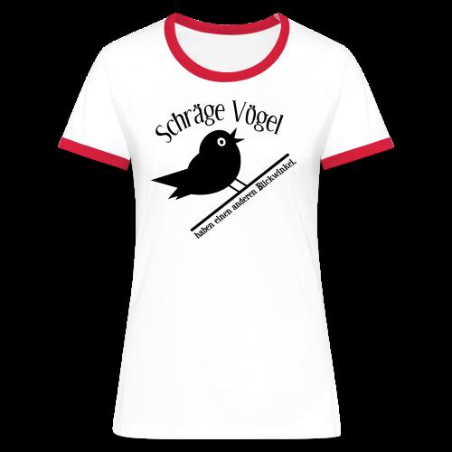 Schräger Vogel Spruch Retro T-Shirt - Frauen Kontrast-T-Shirt