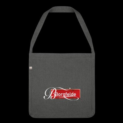 Mein Hamburg, mein Borgfelde meine Kiez-Tasche - Schultertasche aus Recycling-Material