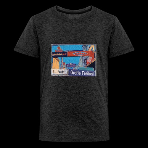 Große Freiheit, Hamburg-St. Pauli, mein Kiez - Teenager Premium T-Shirt
