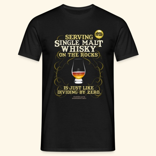 Whisky T Shirt Single Malt on the Rocks - Männer T-Shirt