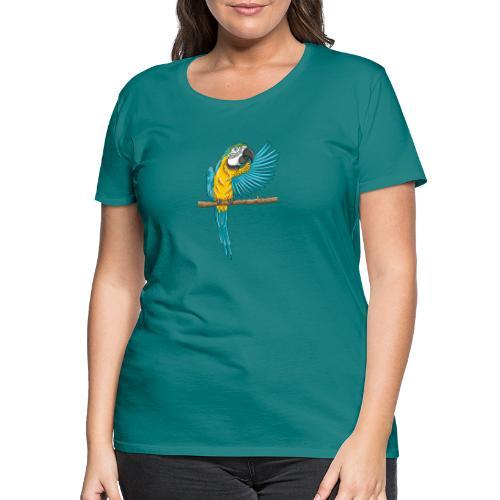 pfiffiger Papagei - Frauen Premium T-Shirt  - Frauen Premium T-Shirt