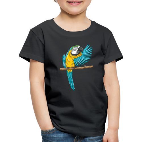 pfiffiger Papagei - Kinder Premium T-Shirt  - Kinder Premium T-Shirt
