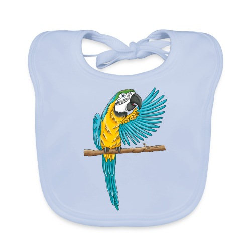 pfiffiger Papagei - Baby Bio-Lätzchen  - Baby Bio-Lätzchen
