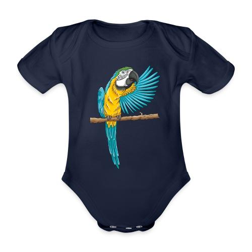 pfiffiger Papagei - Baby Bio-Kurzarm-Body  - Baby Bio-Kurzarm-Body