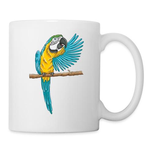 pfiffiger Papagei - Tasse weiß  - Tasse