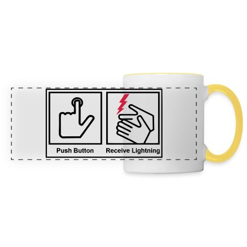 Push button, receive lightning, mug. - Panoramic Mug