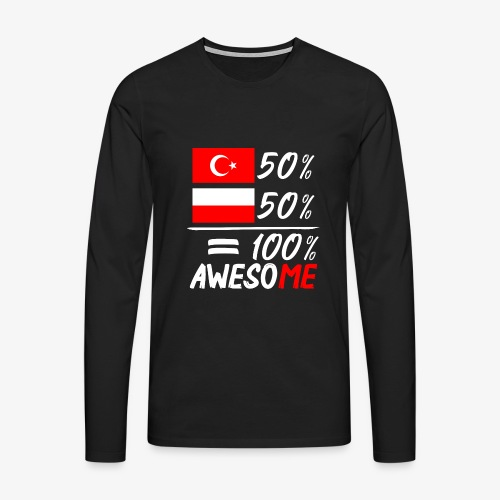 Männer Premium Langarmshirt 50% Polnisch 50% Türkisch - Männer Premium Langarmshirt