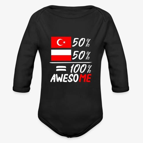 Baby Bio-Langarm-Body 50% Polnisch 50% Türkisch - Baby Bio-Langarm-Body