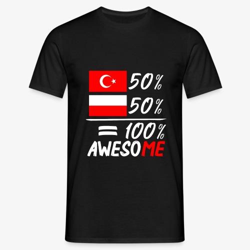 Männer T-Shirt 50% Polnisch 50% Türkisch - Männer T-Shirt