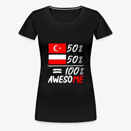 Frauen Premium T-Shirt 50% Polnisch 50% Türkisch - Frauen Premium T-Shirt