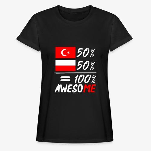 Frauen Oversize T-Shirt 50% Polnisch 50% Türkisch - Frauen Oversize T-Shirt