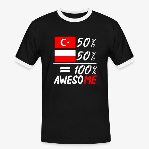 Männer Kontrast T-Shirt 50% Polnisch 50% Türkisch - Männer Kontrast-T-Shirt